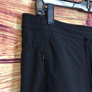 Athleta Pants - Athleta Drawstring Cropped Workout Black Pants